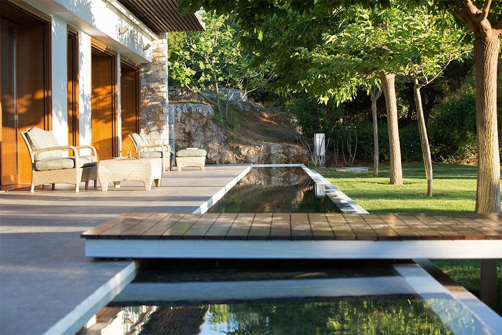 Reflection pool at Villa Terra Creta