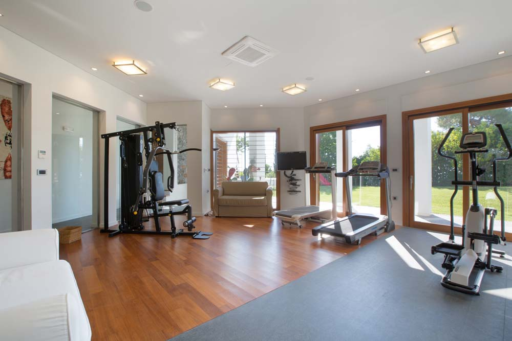 The gym area is spacious enough for all kinds of fitness programs