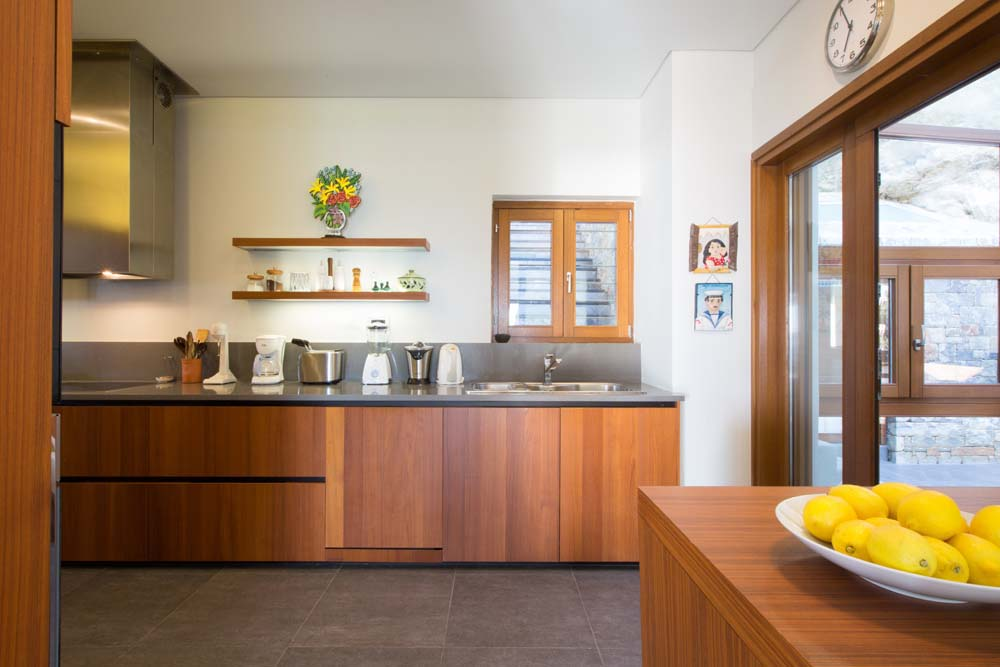 Natural light at the kitchen and lemons from our garden trees