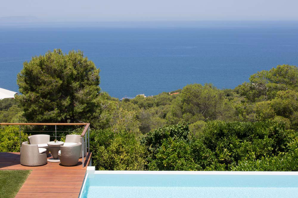 Villa Terra Creta and the big blue Aegean sea